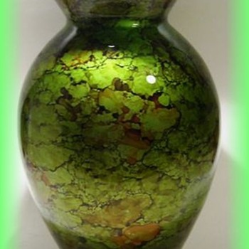 Pretty Vase -- Unknown -- Possibly Newer Chinese Glass  - Glassware