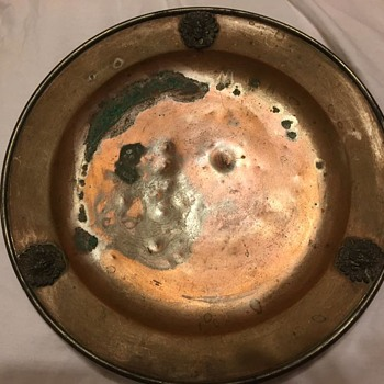 A mining plate Maybe?  A old dining plate?  Who knows?