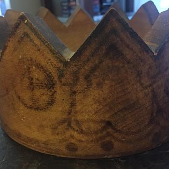 Wooden Crown with designs  - Folk Art