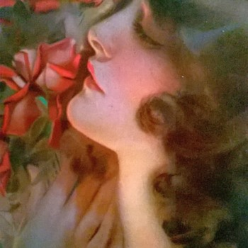 "Rolf Armstrong Print ""Only A Rose"" From His Original Painting Done In 1919. - Visual Art"