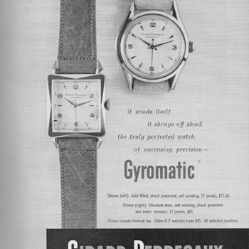 1951 - Girard-Perregaux Watches Advertisement - Advertising
