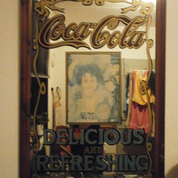 Old Coca-Cola Mirror - Coca-Cola