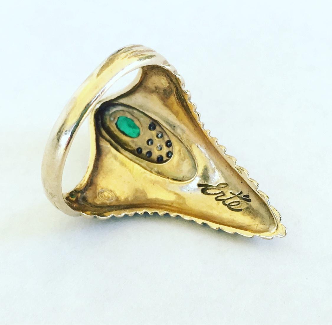 vintage 14k gold erte ring collectors weekly