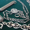 Silver treasures - guard chain, bracelet & propelling pencil
