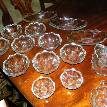 Very old Pressed Glass Bowls/Dishes - Glassware