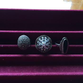 Sterling and Marcasite Rings