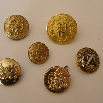 Brass buttons...curious about these - Sewing