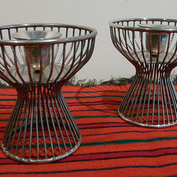 MODERNIST CANDLESTICKS