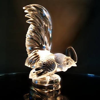 Lalique &quot;Le Coq&quot; crystal automobile mascot