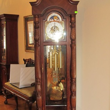 """1999 Turn of the Century"" Ridgeway Grandfather Clock"