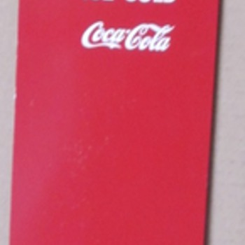 Coca Cola Tin Door Sign - Advertising