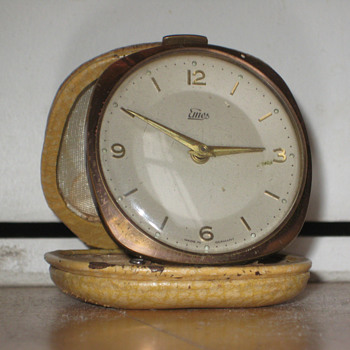 Antique 1950's German Emes travel alarm clock.