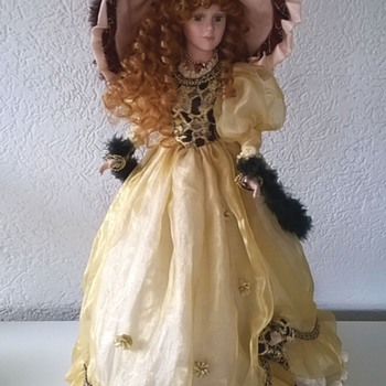Bisque Doll, Victorian Fashion - Dolls