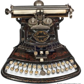 Crandall 1 typewriter - 1883 - Office