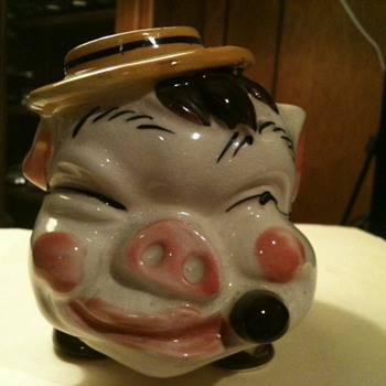 Piggy Bank with Hat and Cigar