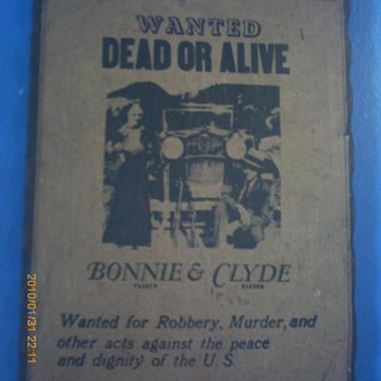 Bonnie and Clyde poster WANTED DEAD OR ALIVE