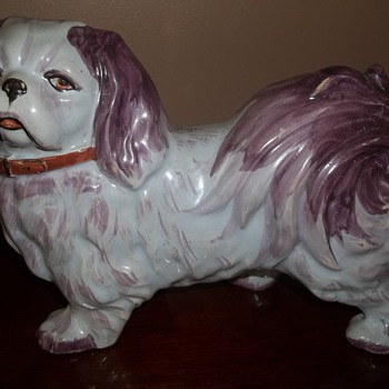 Pottery Dog brought over from Hungary over 50 years ago