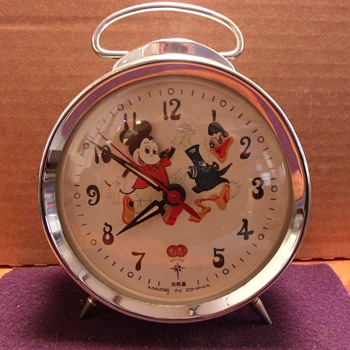 "Mickey Mouse and Donald Duck ""Animated"" Alarm Clock"
