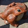 Handmade Toad - garden statue