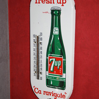 7up thermometer - Signs