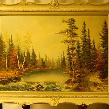"1 of 3-Muskoka landscape,Oil on Board""E.Jalava""Circa 1960-70 - Visual Art"