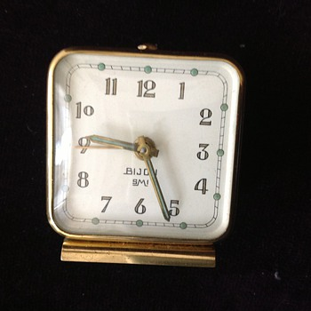 Antique 1950's SMI Bijou French alarm clock.