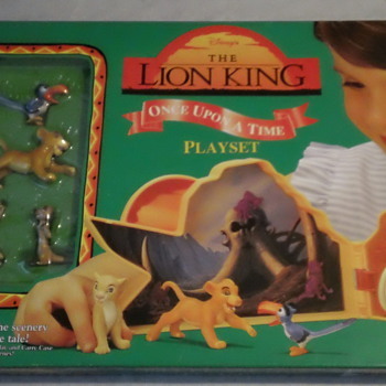 VINTAGE Disney's The Lion King Once Upon a Time playset factory seal mint
