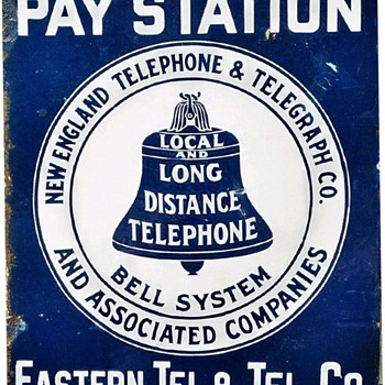 Eastern Tel. & Tel. Co. Porcelain Sign - Signs