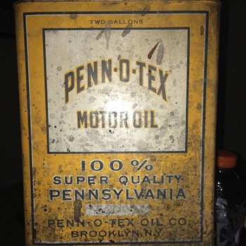 Penn-O-Tex Motor Oil. Brooklyn, NY.