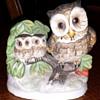 Ceramic Owl Figurine