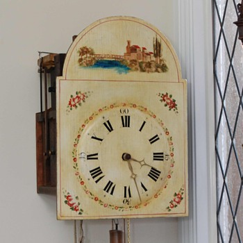 Black Forest Musical Flute Clock C. 1820