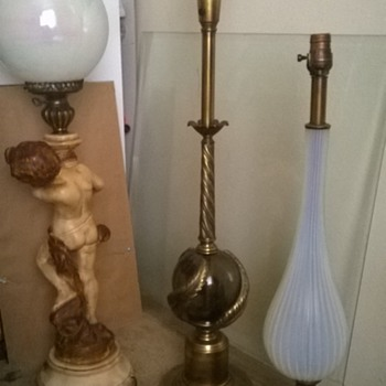 Help identifying my grandparents lamps? Please!!