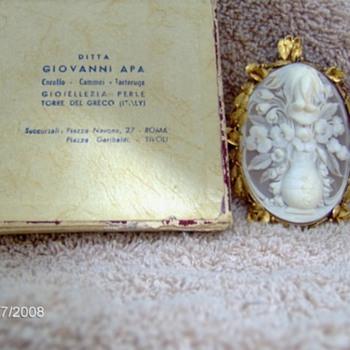 floral cameo,giovanni apa - Fine Jewelry