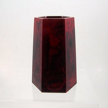 Rare Rindskopf Diluvium Glass Vase, ca. 1900 - Art Glass