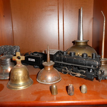 Bells,oil cans, roof bullets ,and train - Petroliana