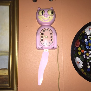 Kit cat clock  40's model c2 pink