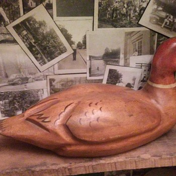 hand carved duck