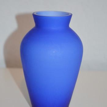 Simple cobalt blue vase