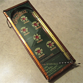 This is an update on my restoration of the Midget Bagatelle game - Toys