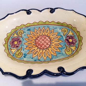 Handmade oval dish