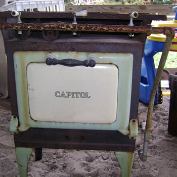 &quot;Caloric&quot; cast iron cook stove - Kitchen