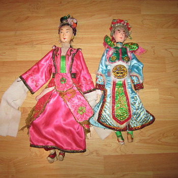 Folk Art Asian Dolls? - Asian