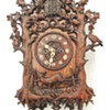 "1863, (EARLY) Beha ""herschfaller"" wall clock. 8-day twin fusee. (wood plate)"