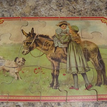 Vintage Children&#039;s Jigsaw Puzzle - Games