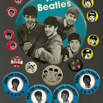 1964 - 1968 The Beatles part 1 Pinback Button's