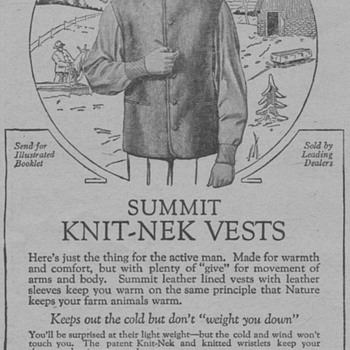 1919 - Guiterman Bros. Vests Advertisement