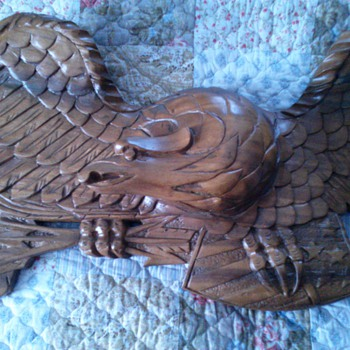 Wood American Eagle - Folk Art