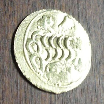 Rare oriental gold brothel coin / token