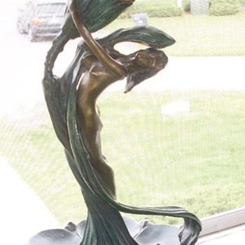 Gurschner lady tulip lamp - Art Nouveau