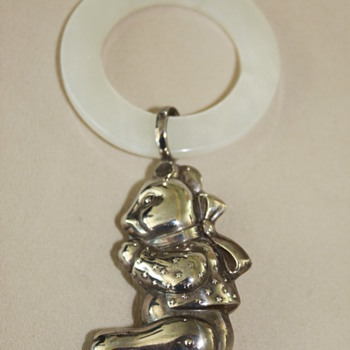 Sterling Silver baby Rattle - Sterling Silver